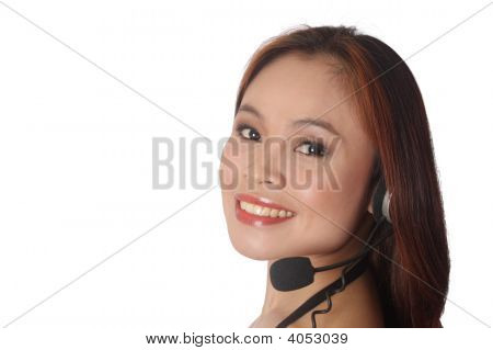 Woman At The Customer Support