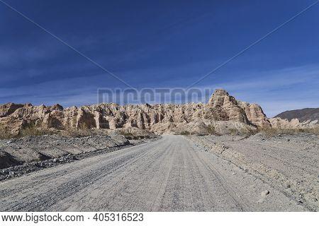 Quebrada De Las Flechas Is A Scenic Desert Drive Between Salta And Cafayate Along Famous Ruta 40 Wit