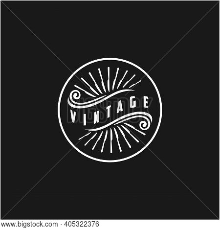 Vintage Retro Typography Hipster With Knife Circling The Outer Style For Restaurant Bar Cafe Menu La
