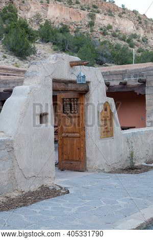 Bandelier National Monument,  New Mexico / Usa - October 13, 2014:  The Southwestern Designed Doors