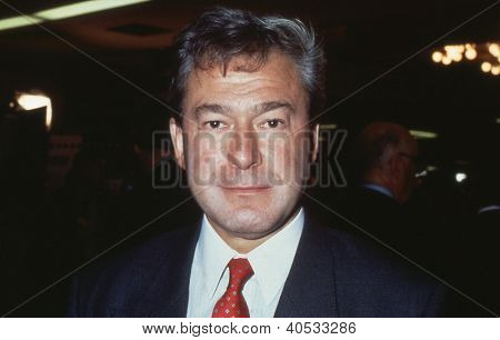 BRIGHTON, ENGLAND - OCTOBER 1: Tony Banks, Labour party Member of Parliament for Newham North West, attends the party conference on October 1, 1991 in Brighton. Later Lord Banks, he died in 2006.