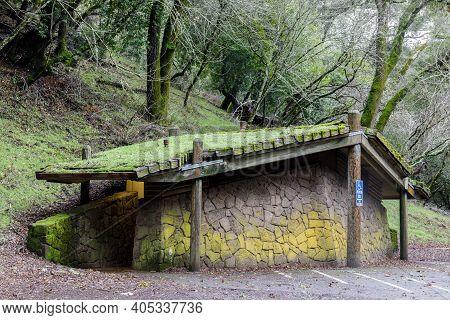 Public Restrooms In Foothills Park, Santa Clara County, California