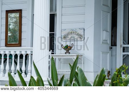 New Orleans, La - January 23: Front Porch Of Historic