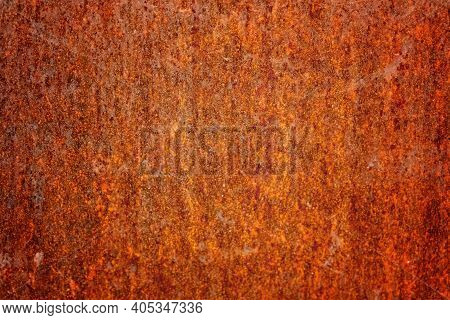 Rust Metal Background. Grunge Steel Texture. Rusty Corrosive Wall, Iron Covered With Rust And Corros