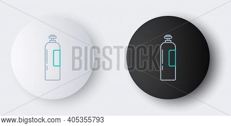 Line Industrial Gas Cylinder Tank For All Inert And Mixed Inert Gases Icon Isolated On Grey Backgrou