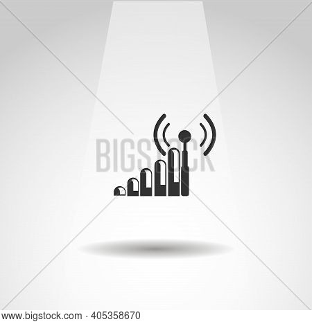Antenna Icon. Cellular Vector Icon, Gsm Signal Simple Isolated Icon