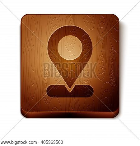 Brown Map Pin Icon Isolated On White Background. Navigation, Pointer, Location, Map, Gps, Direction,