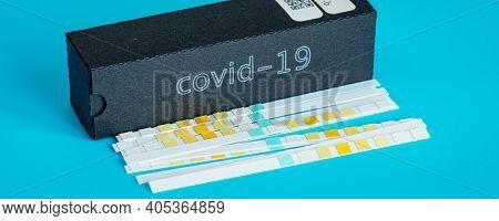 Coronavirus (COVID-19) IgM IgG Rapid Test Kit. covid-19  IGM   IGG antibody diagnostic test in microbiological lab. Coronavirus quick test concept design.