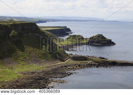 Ulster (ireland), - July 20, 2016: Port Noffer At The Giant's Causeway On The North Coast Of County