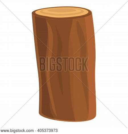 Tree Trunk Icon. Cartoon Of Tree Trunk Vector Icon For Web Design Isolated On White Background