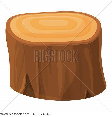 Tree Trunk Section Icon. Cartoon Of Tree Trunk Section Vector Icon For Web Design Isolated On White