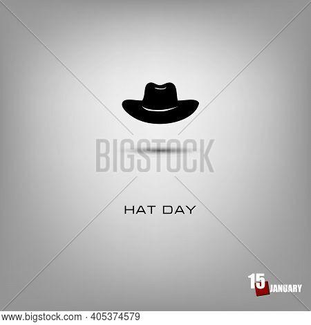 Day Of Celebration Of The Headdress - Hat Day. Vector Illustration.