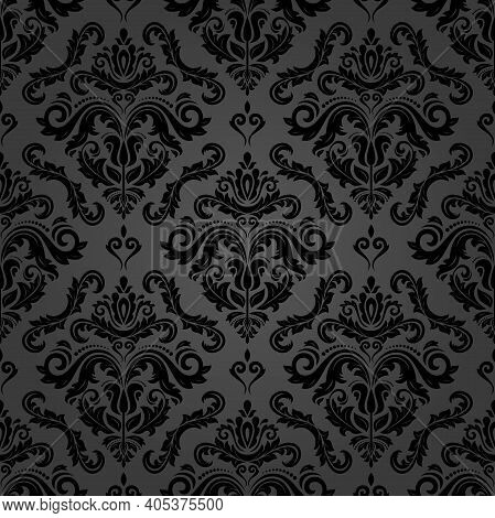 Orient Classic Dark Pattern. Seamless Abstract Background With Vintage Elements. Orient Background.