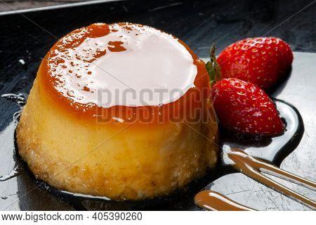Condensed milk pudding with eggs