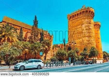 Towers Of Quart (torres De Quart) Is One Of The Twelve Gates ,of