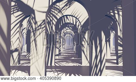 3d Illustration Background For Advertising And Wallpaper In Architecture And Building Scene. 3d Rend