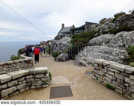 Cape Town, South Africa - 29 Apr 2012: The View On The Top Of Table Mountain, Cape Town, South Afric