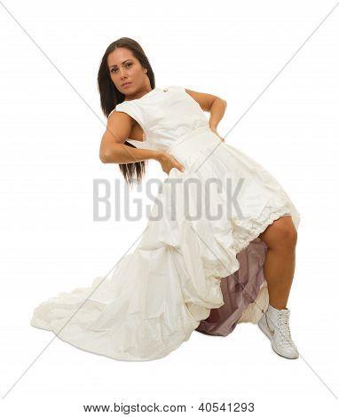 Bride In Fashion Pose