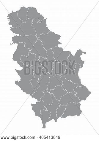 Serbia Districts Map