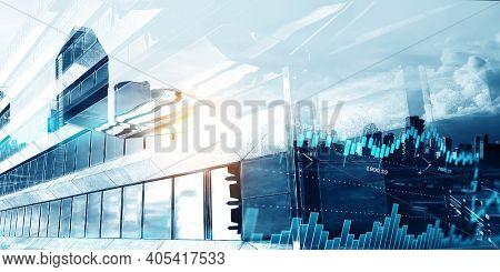 Global financial markets concept. . Mixed media