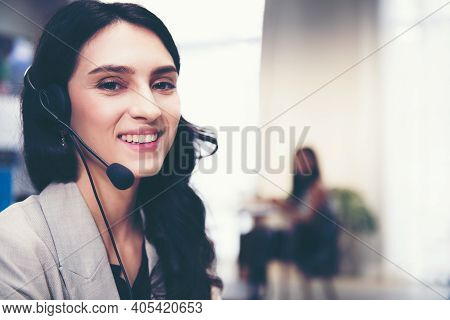 Call Center And Customer Service Team Support For Information Operator At Work.  People Woman Employ