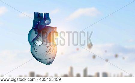Innovative medicine concept. Heart symbol