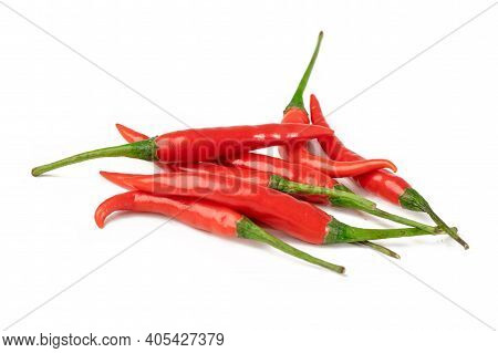 Pepper Or Chilli Red And Hot Vegetable Isolated On White Background.