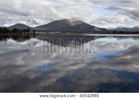 Reflection At Fagnano Lake In Tierra Del Fuego