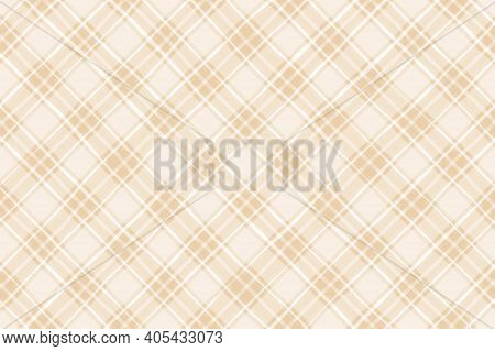 White Yellow Brown Beige Vintage Checkered Background. Space For Graphic Design. Checkered Texture.
