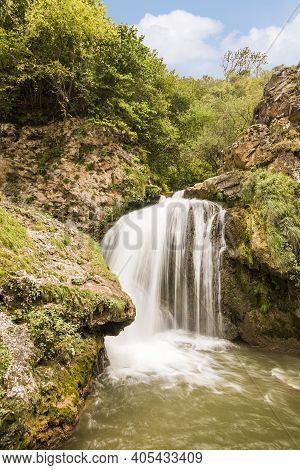 Honey Waterfalls Are Located In The Karachay Circassian Republic A Natural Attraction Of Russia.