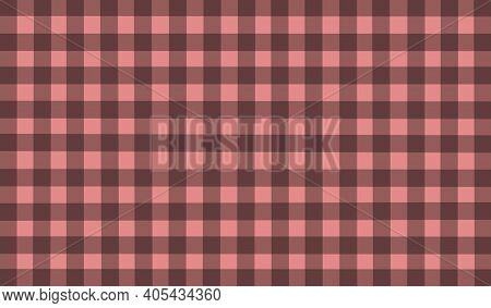 Pink Orange Beige Brown Vintage Checkered Background. Space For Graphic Design. Checkered Texture. C