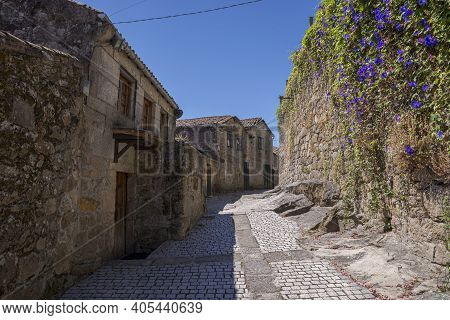 Traditional Architecture In The City Of Tui, Province Of Pontevedra, Spain