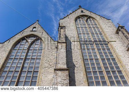 Windows Of The Historic Sint Jan Church In Gouda, Netherlands