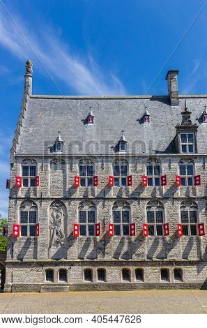Side View Of The Historic Town Hall In Gouda, Netherlands