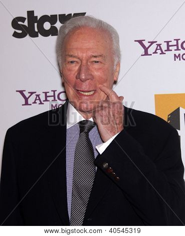 LOS ANGELES - OCT 24:  CHRISTOPHER PLUMMER arriving to 15th Annual Hollywood Film Awards Gala  on October 24, 2011 in Beverly Hills, CA