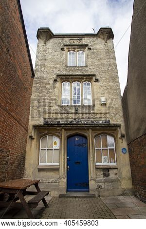 Devizes, Wiltshire, Uk, August 25 2020. The Literary And Scientific Institute Was Originally Built A