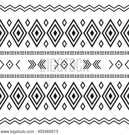 Mobileblack And White Tribal Ethnic Pattern With Geometric Elements, Traditional African Mud Cloth,