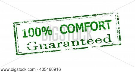 Rubber Stamp With Text One Hundred Percent Confort Inside, Vector Illustration