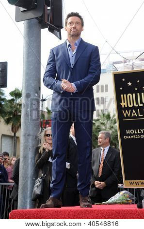 LOS ANGELES - DEC 12:  Hugh Jackman  arriving to Walk of Fame Honors Hugh Jackman on December 12, 2011 in Hollywood, CA