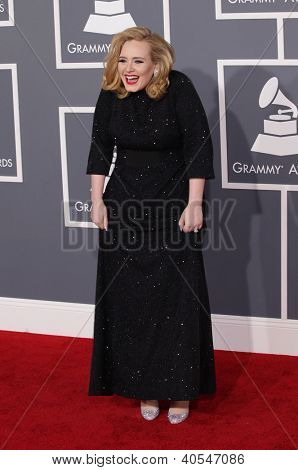 LOS ANGELES - FEB 12:  ADELE arriving to Grammy Awards 2012 on February 12, 2012 in Los Angeles, CA