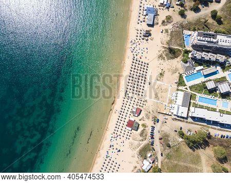 Aerial View Of Gradina (garden) Beach Near Town Of Sozopol, Burgas Region, Bulgaria