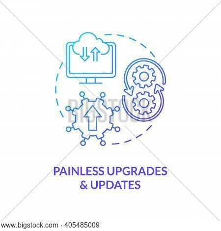 Painless Upgrades And Updates Concept Icon. Saas Advantage Idea Thin Line Illustration. Product Perf