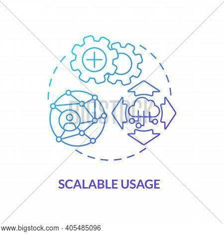 Scalable Usage Concept Icon. Saas Argument Idea Thin Line Illustration. Handling Growing, Diminishin