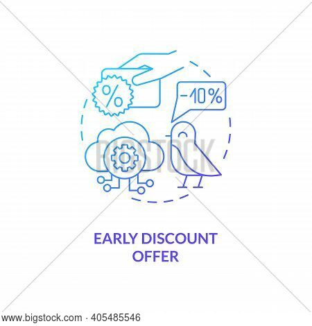 Early Discount Offer Concept Icon. Saas Trial Idea Thin Line Illustration. Pricing Discounts For Rev