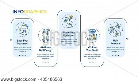 Beauty Procedures Vector Infographic Template. Baby Foot Treatment, Nail Design Presentation Design