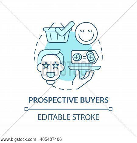 Prospective Buyers Concept Icon. Co-creation Participant Idea Thin Line Illustration. Potential Clie