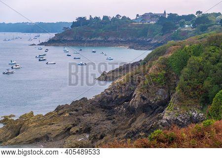 Pointe Du Grouin Scenic View, Rocky Coastline Near Cancale In Brittany, France