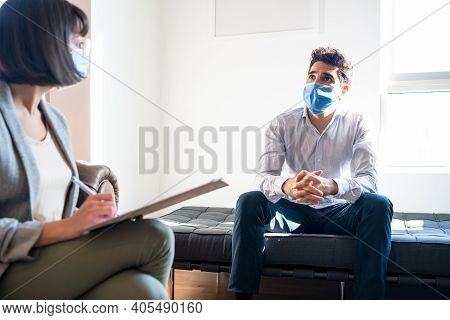 Portrait Of A Psychologist Talking With Her