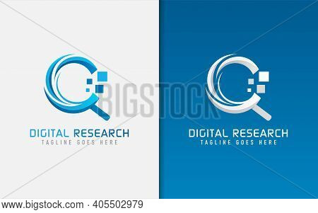 Digital Research, Tech Creative Logo Design. Usable For Business, Community, Foundation, Tech, Servi