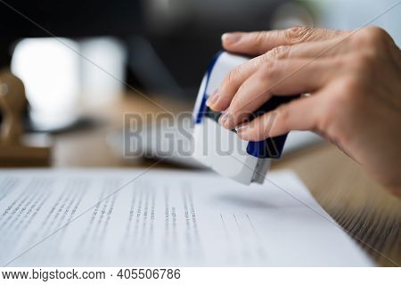 Approve Document And Work Permit Stamp. Application Approved